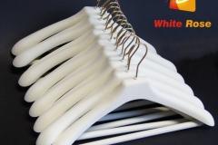 Wieszaki flokowane - białe ivory
